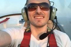 Igor Kheifets piloting a Cessna